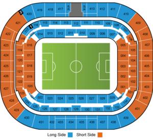 מפת אצטדיון ליון